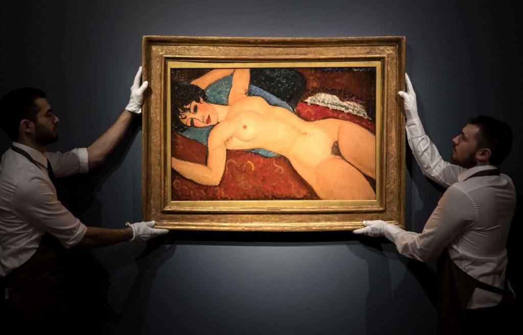"""Le """"Nu couché"""" d'Amedeo Modigliani a été vendu à 157,2 millions de dollars"""