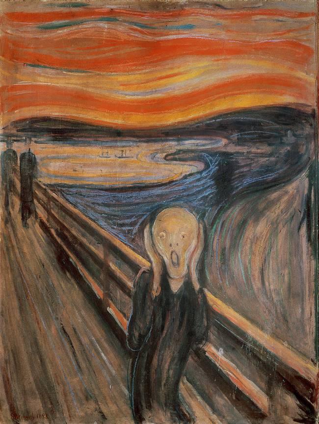 Le Cri de l'artiste norvégien Edvard Munch