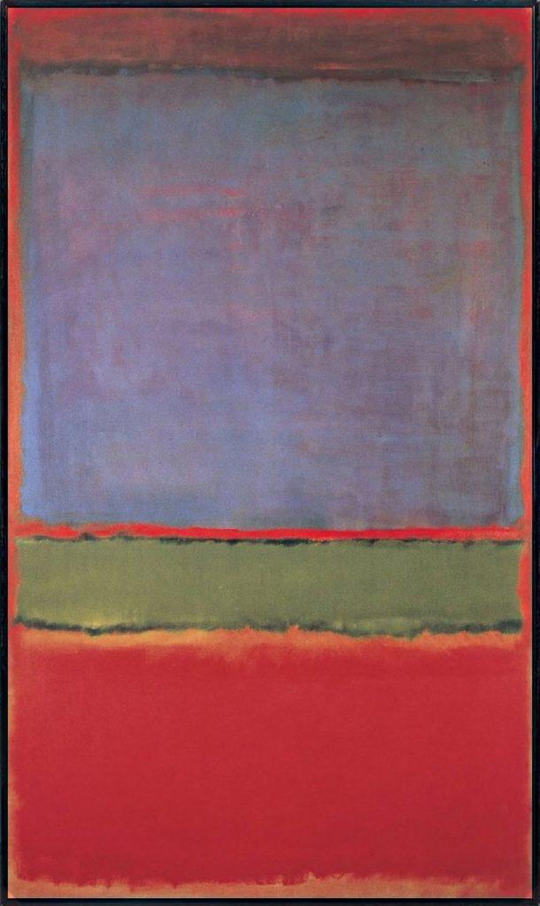 N°6 (VIOLET, GREEN AND RED) DE MARK ROTHKO – 186 MILLIONS DE DOLLARS