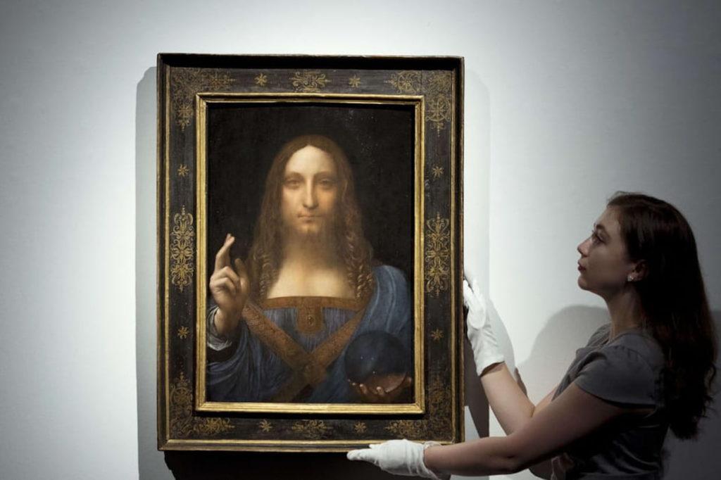 Salvator Mundi Léonard de Vinci vendu pour pour 450,3 millions de dollars.